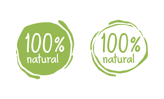 100 natural grungy eco-friendly stamp
