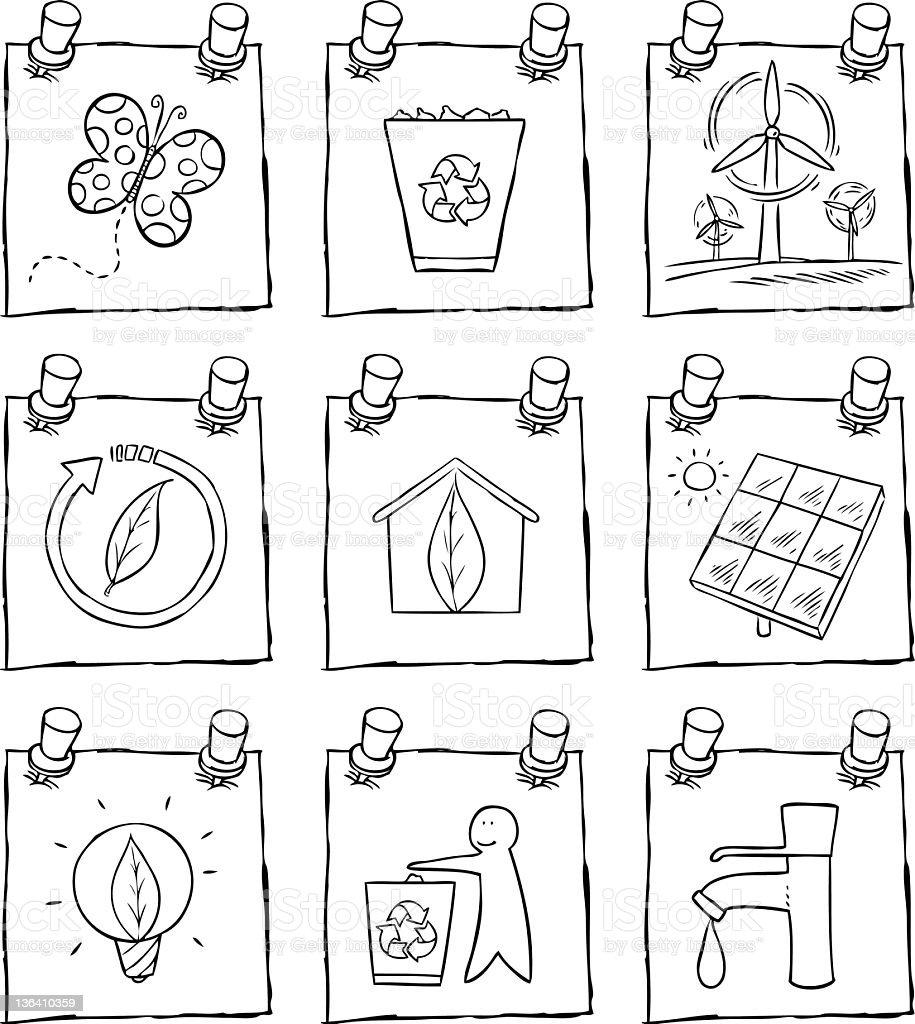 Natural Icon Set royalty-free stock vector art