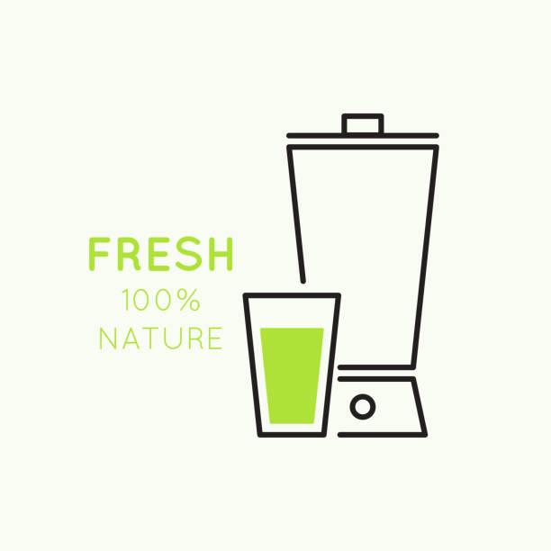 bildbanksillustrationer, clip art samt tecknat material och ikoner med natural juice - smoothie