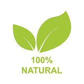 100% Natural Label Vector