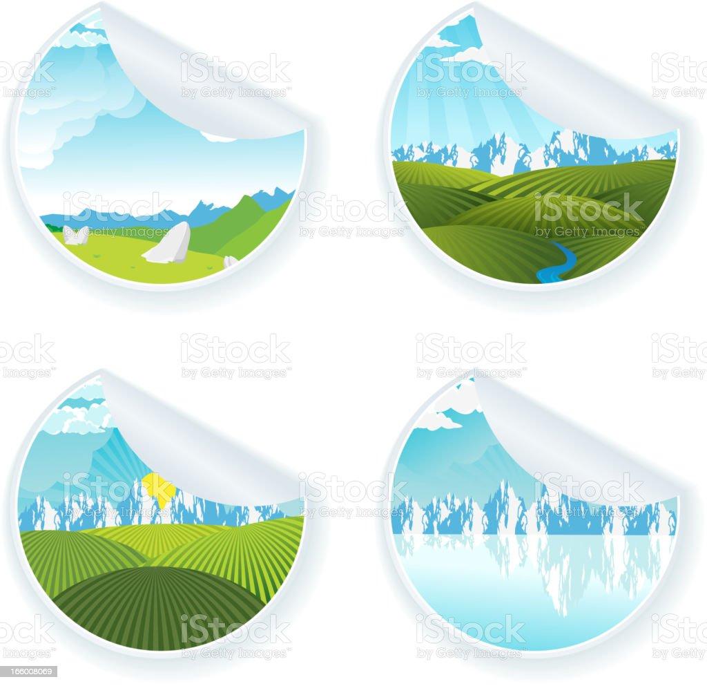 Natural Labels royalty-free stock vector art