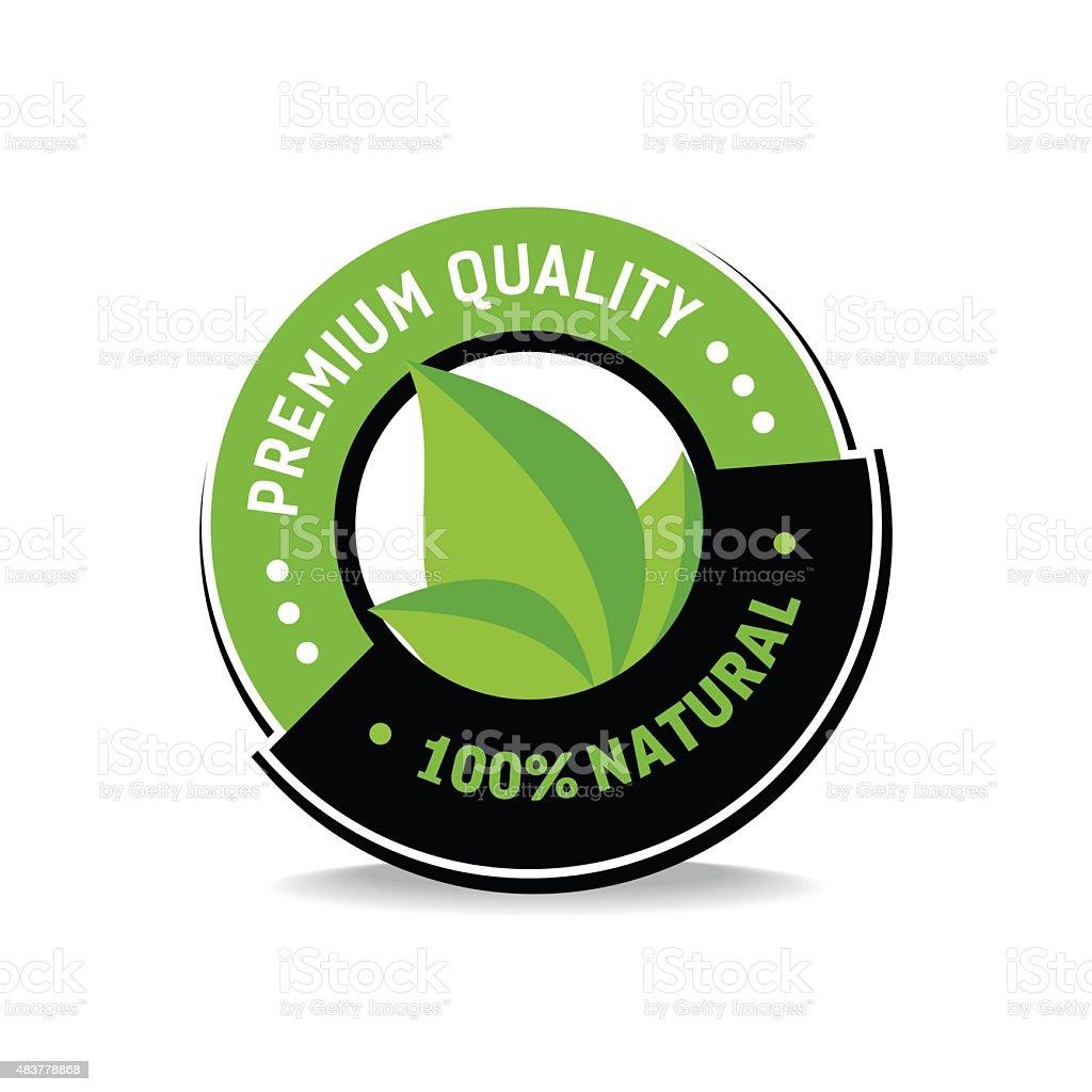 100% natural label.Vector illustration vector art illustration