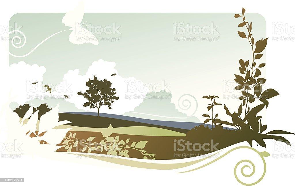 natural landscape royalty-free stock vector art