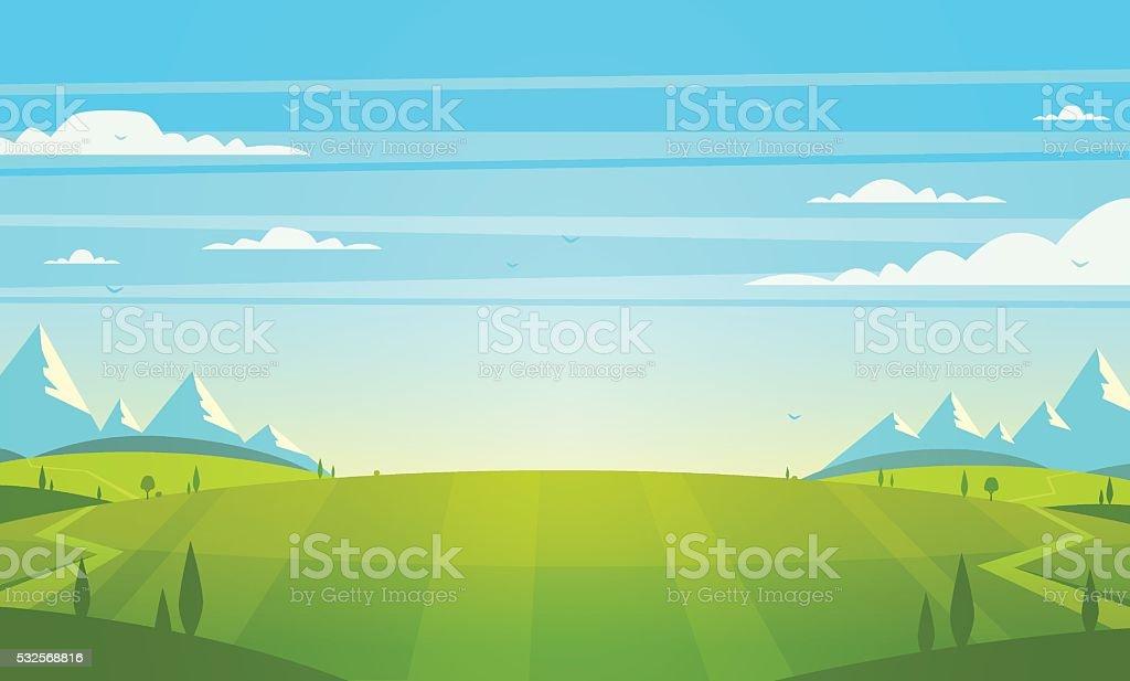 Paesaggio naturale. Illustrazione vettoriale. - arte vettoriale royalty-free di Albero