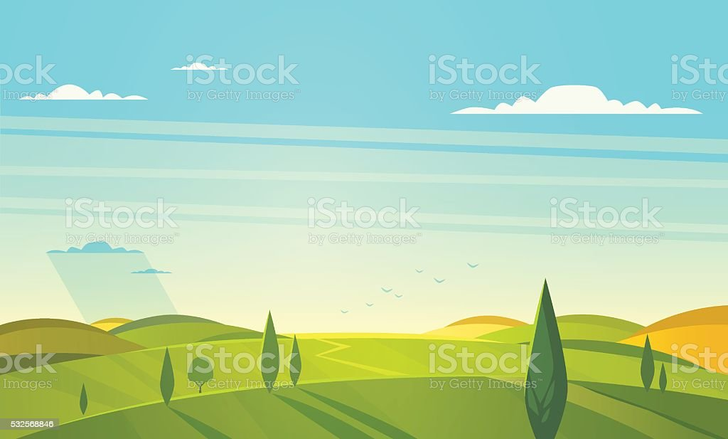 Cartoon styled vector background. Could be used as greeting card,...