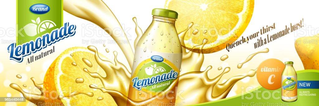 Natural lemonade juice natural lemonade juice - stockowe grafiki wektorowe i więcej obrazów bez ludzi royalty-free