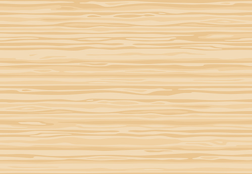Natural light beige wooden wall plank, table or floor surface. Cutting chopping board. Сartoon wood texture, seamless background.
