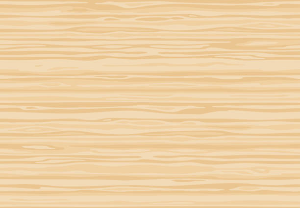 Natural light beige wooden wall plank, table or floor surface. Cutting chopping board. Сartoon wood texture, seamless background. Natural light beige wooden wall plank, table or floor surface. Cutting chopping board. Сartoon wood texture, vector seamless background. cutting board stock illustrations