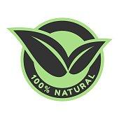100% organic logo.