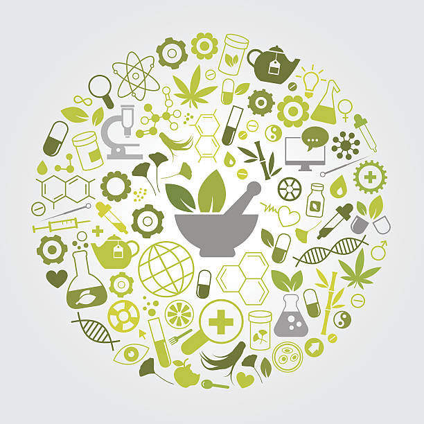Natürliche Medizin – Vektorgrafik
