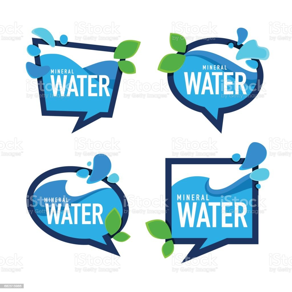 natural mineral  water, vector emblems, labels and stickers templates with aqua drops royalty-free natural mineral water vector emblems labels and stickers templates with aqua drops stock vector art & more images of abstract