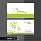 natural modern business card template