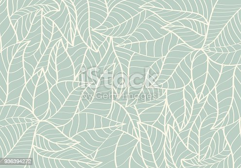 istock Natural Pattern,Abstract,Curve shape,Leaf Green colour Background 936394272