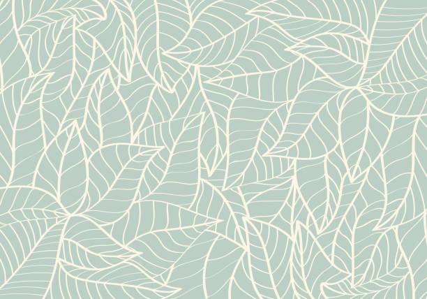 自然圖案, 抽象, 曲線形狀, 葉綠色背景 - 大自然 幅插畫檔、美工圖案、卡通及圖標