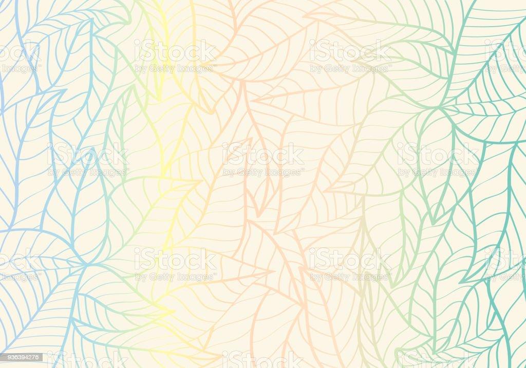 Ilustración de Natural Patrón Abstracto Forma De La Curva Color De ...