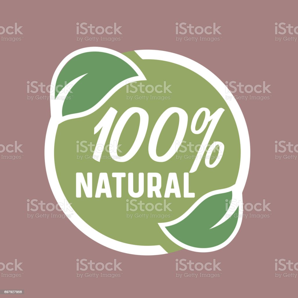 Natural product, Eco Healthy food, green Leaves circle icon/icon vector art illustration