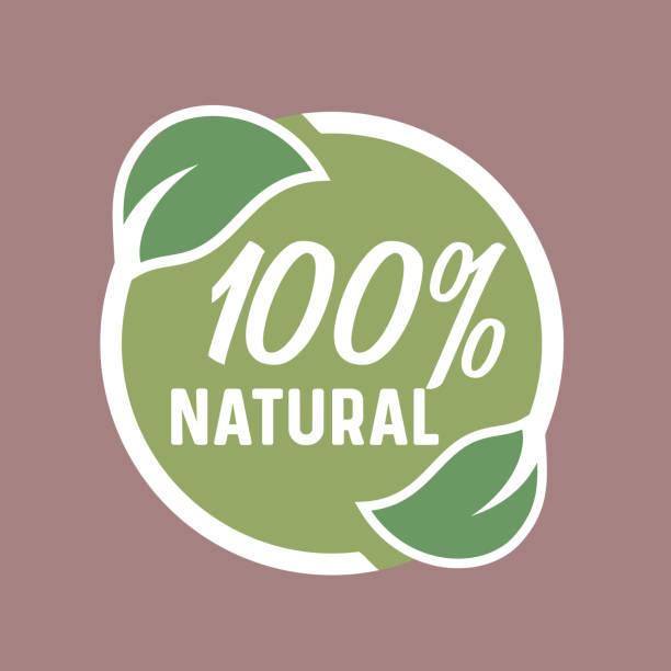 Natural product, Eco Healthy food, green Leaves circle icon/icon Natural product, Eco nutrition, Healthy food, green Leaves circle icon/icon natural condition stock illustrations