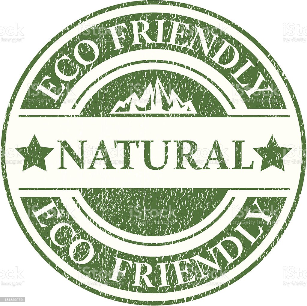 Natural product sign - VECTOR royalty-free stock vector art