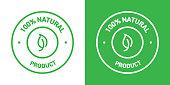 100% Natural Products Badge