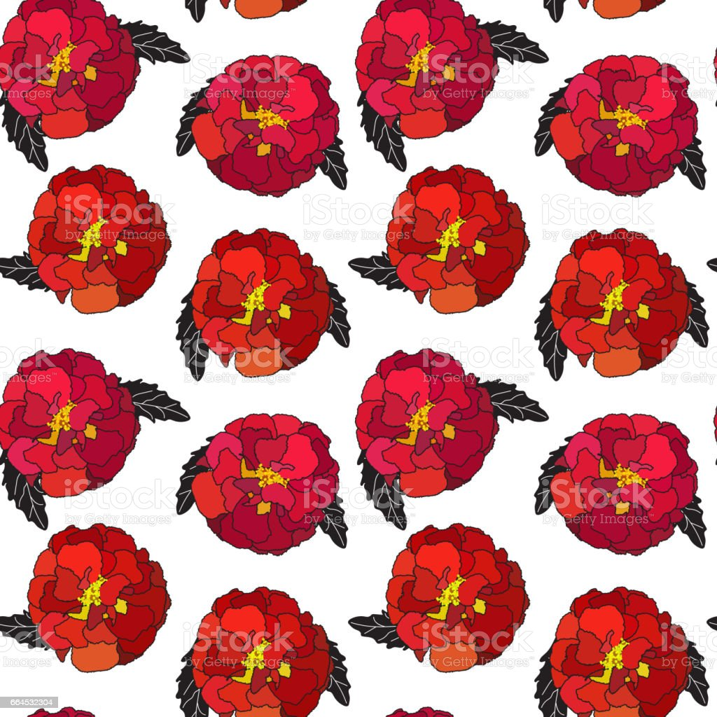 Natural Seamless Pattern Background from Tagetes Flowers Vector royalty-free natural seamless pattern background from tagetes flowers vector stock vector art & more images of backgrounds