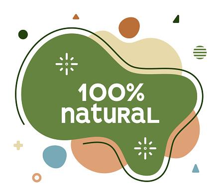 100% Natural Social Media Advertisement Banner