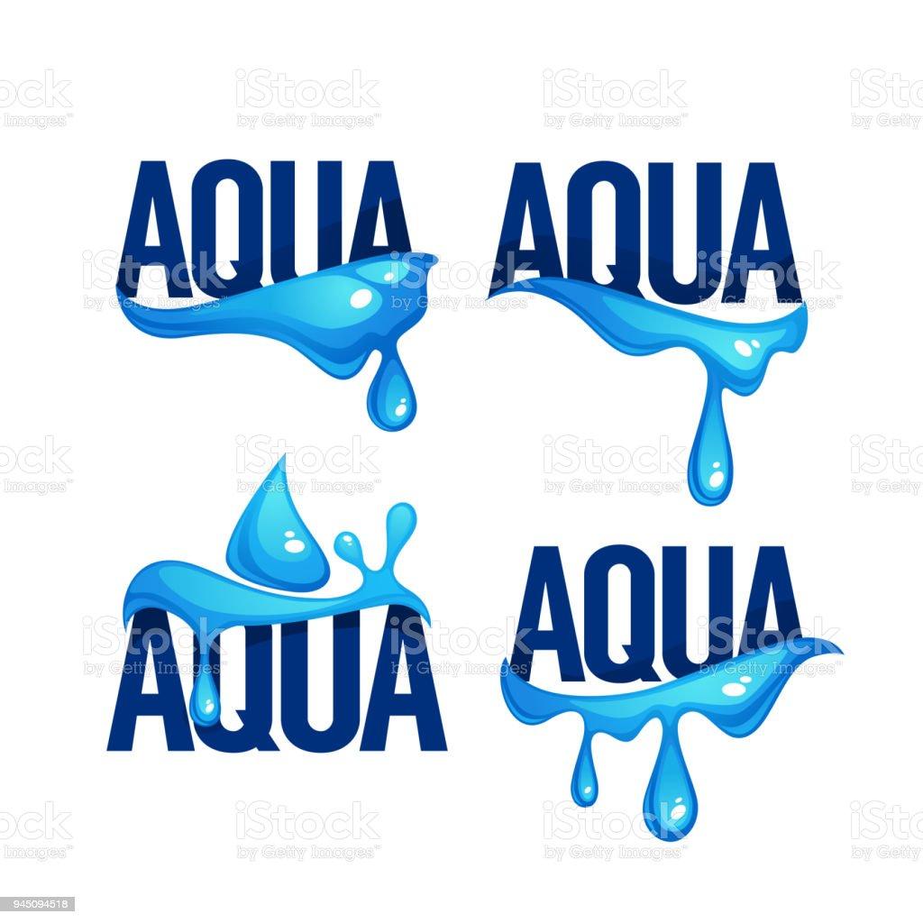 Ilustración de Salpicaduras De Agua De Manantial Natural Ondas ...