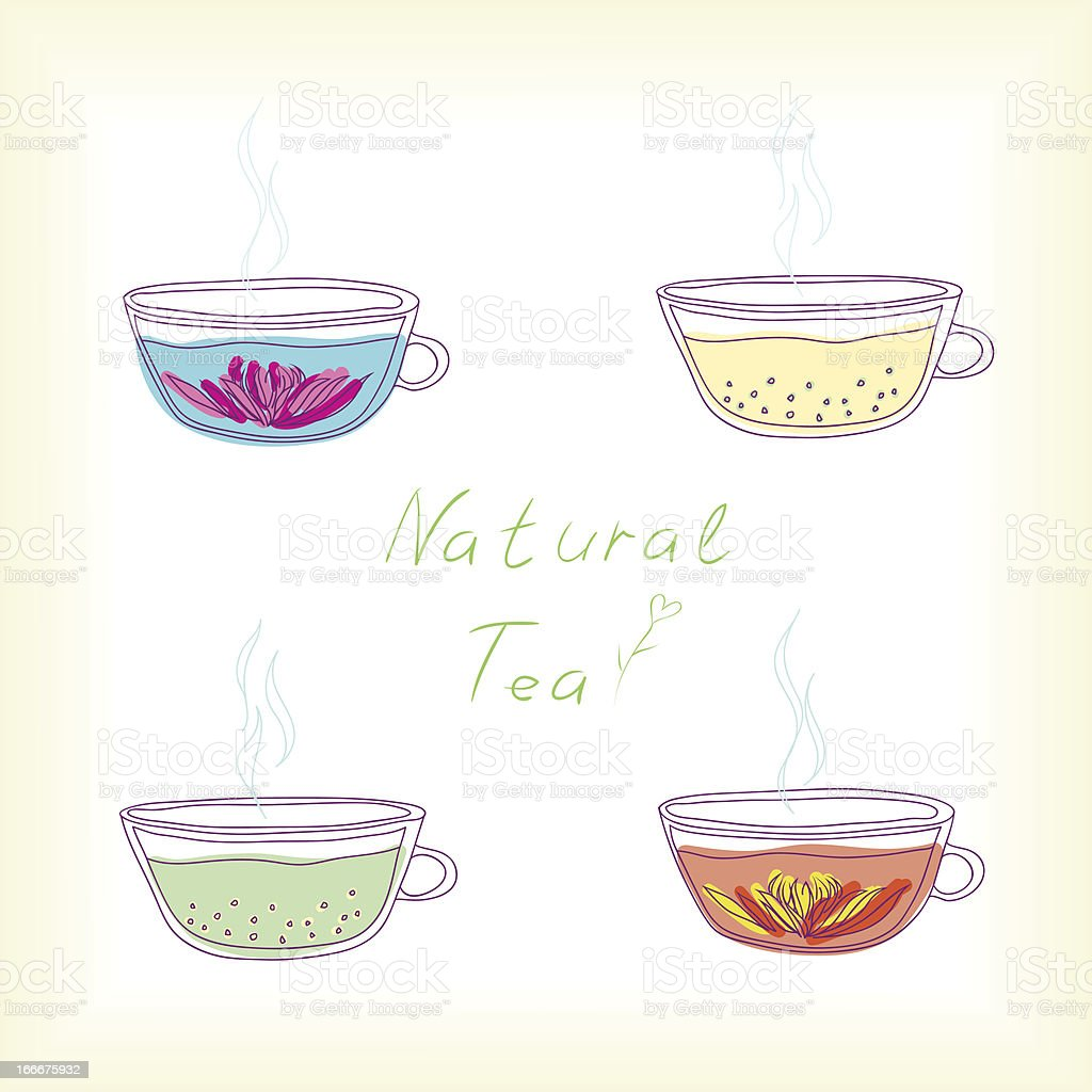natural tea royalty-free stock vector art