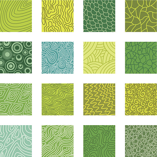 Natural textures Collection of vector textures natural pattern stock illustrations