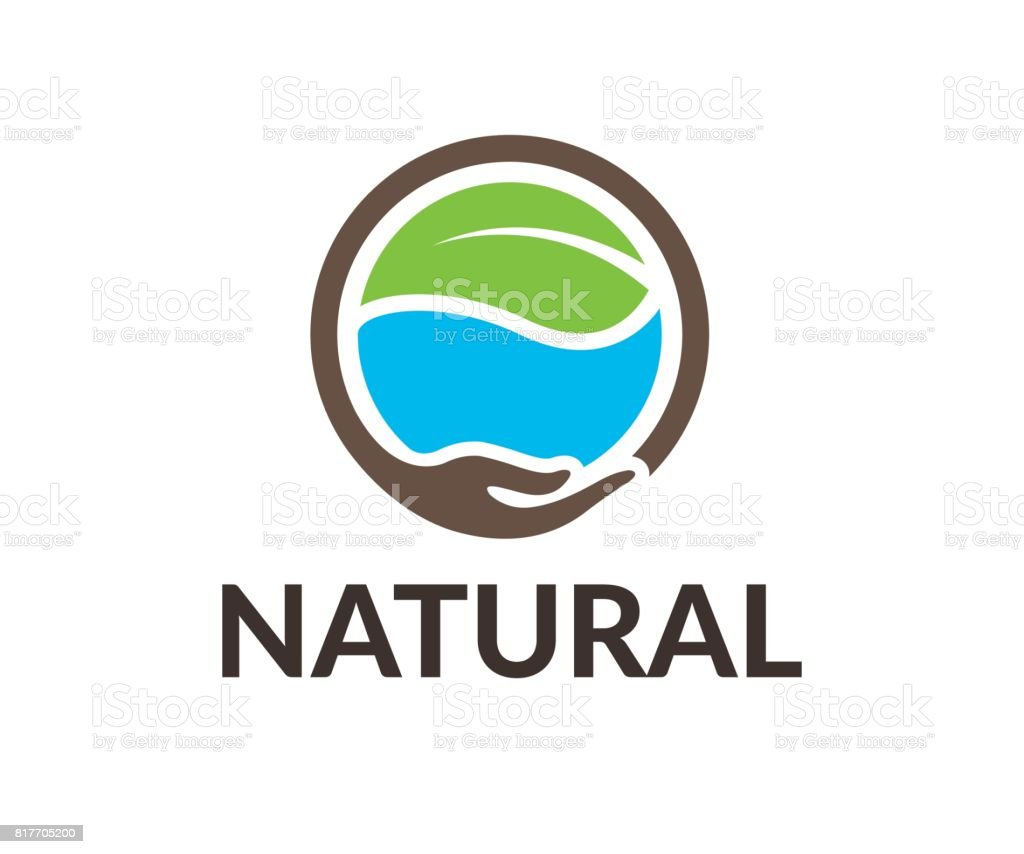 Natural vector icon vector art illustration