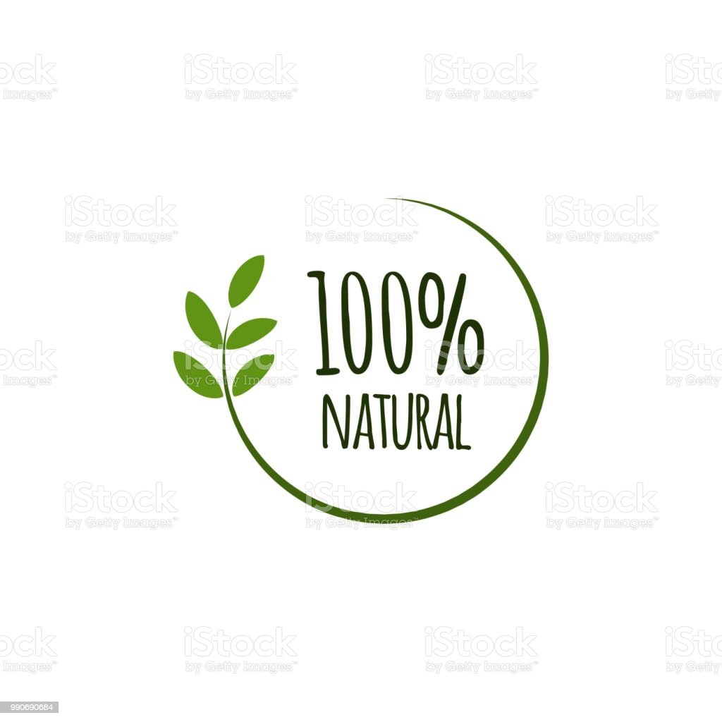 100% Natural Vector Template Design royalty-free 100 natural vector template design stock illustration - download image now