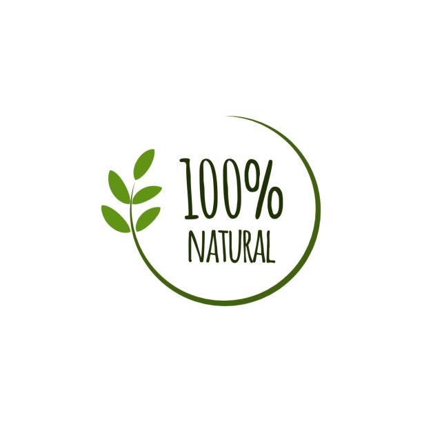 100% Natural Vector Template Design 100% Natural Vector Template Design natural condition stock illustrations