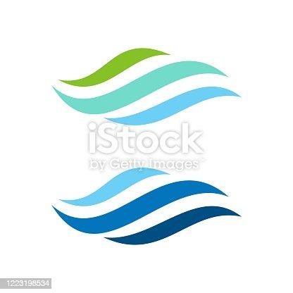 Natural Wave Logo Template Illustration Design. Vector EPS 10.