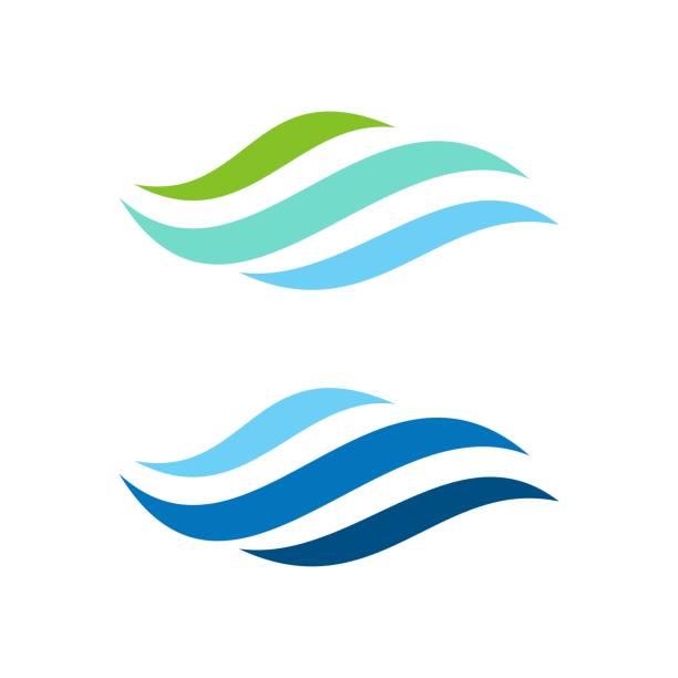Natural Wave Logo Template Illustration Design. Vector EPS 10. Natural Wave Logo Template Illustration Design. Vector EPS 10. wind stock illustrations