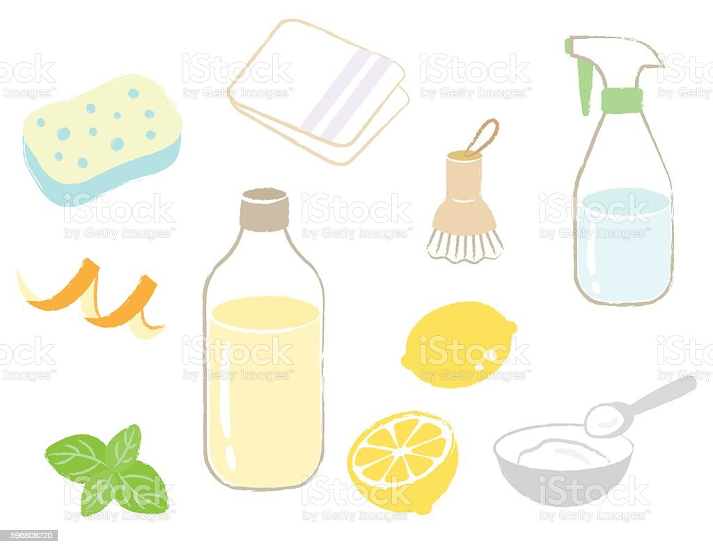 naturalcleaning vector art illustration