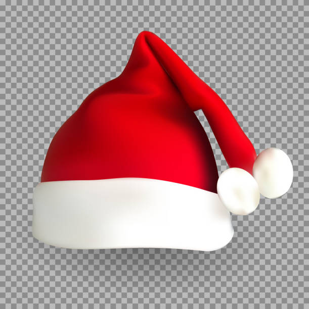Christmas Hat Transparent Clipart.Best Santa Hat Transparent Background Illustrations Royalty