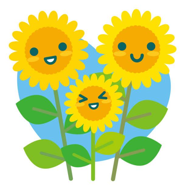 Royalty Free Cute Kawaii Sunflower Clip Art, Vector Images ...