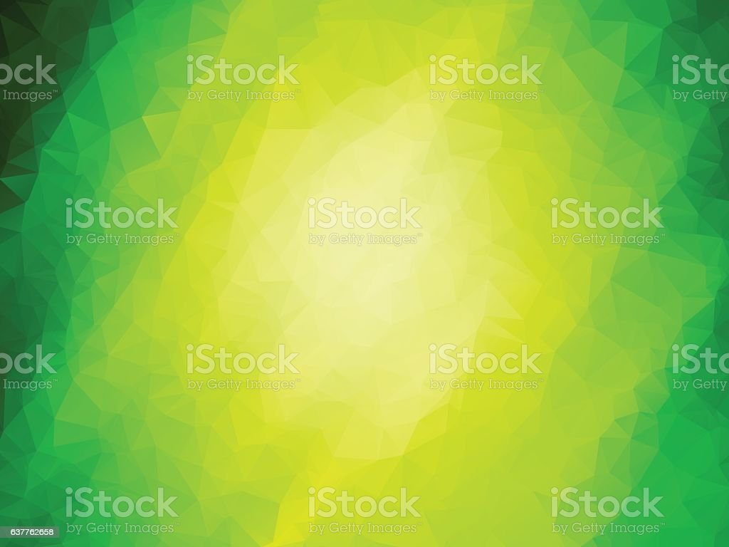 nature abstract geometric green background vector art illustration