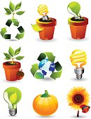Nature & Green energy icons