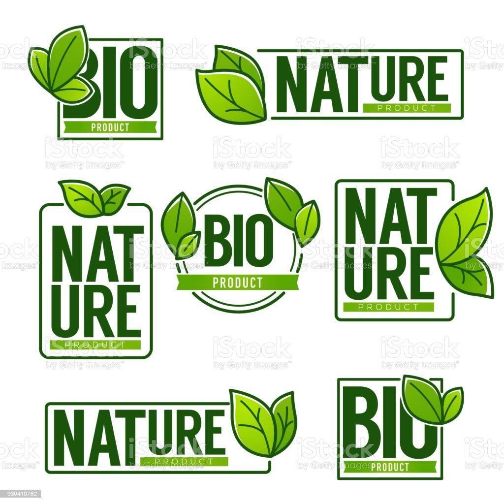 Ilustración de Naturaleza Y Productos Bio Doodle Orgánica Deja Icono ...