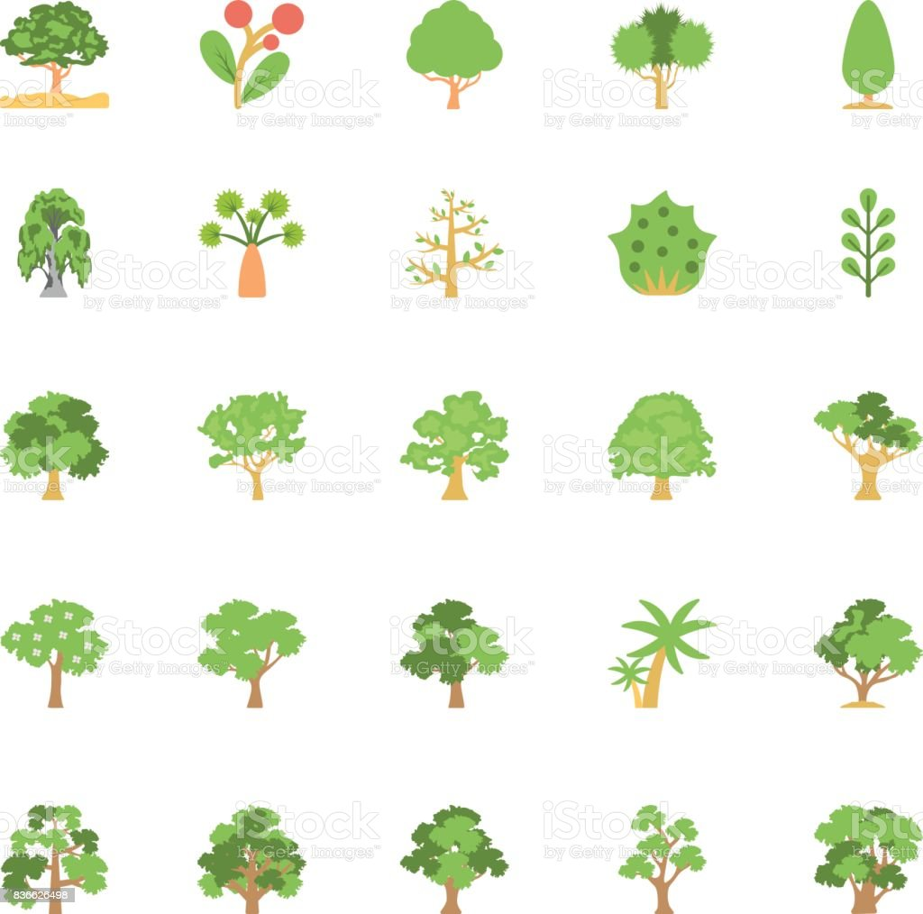 Nature and Ecology Flat Colored Icons 6 vector art illustration
