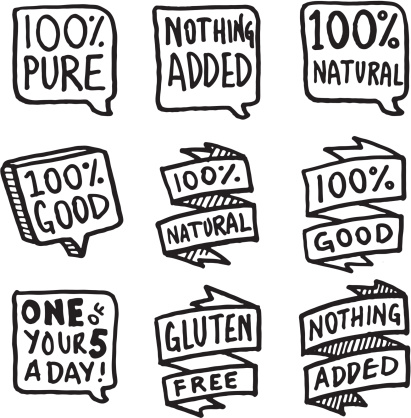 Nature and goodness icon set