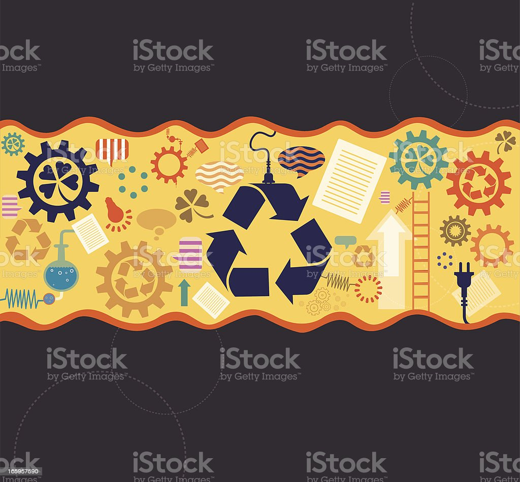 Nature and recycling royalty-free stock vector art