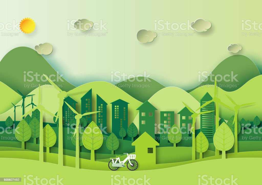 Style d'art du papier modèle de fond de nature - clipart vectoriel de Abstrait libre de droits