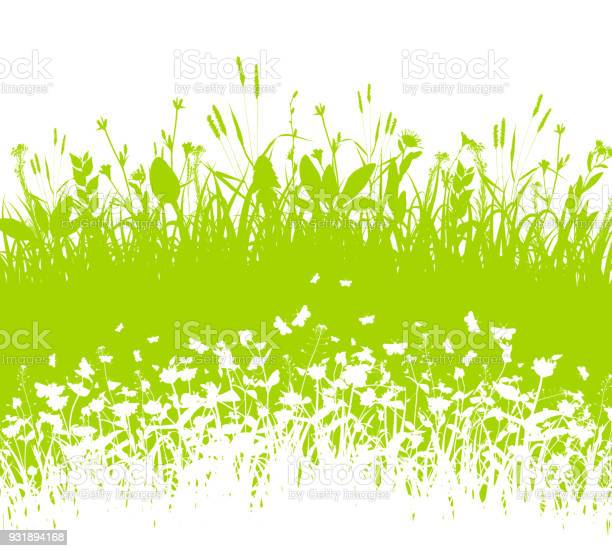 Nature background with grass and white silhouette vector vector id931894168?b=1&k=6&m=931894168&s=612x612&h=aytbvstaz1gn 5sqwm5h cemvonrd4o4ili shimdzm=
