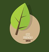 Nature banner. Ecology concept with tree background. Vector illu