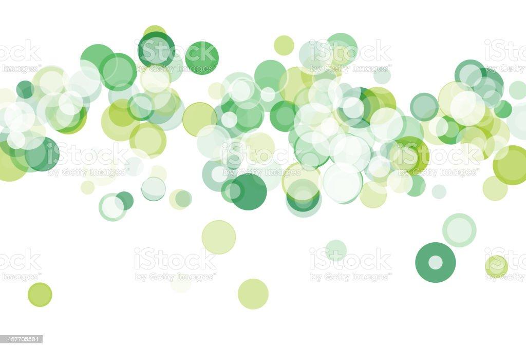 Nature Bokeh Circle Pattern Horizontal vector art illustration