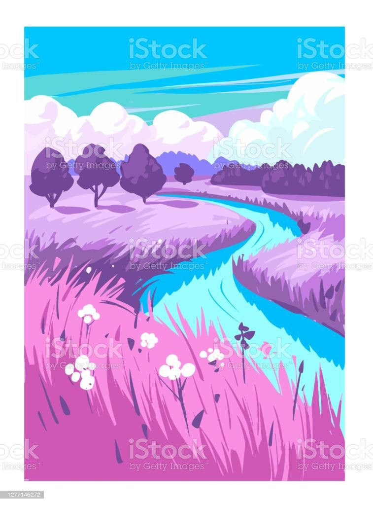 Nature countryside landscape. Rural. Vector illustration Nature countryside landscape. Rural. Vector illustration Agricultural Field stock vector