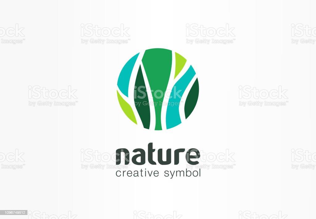 Nature Creative Symbol Organic Concept Bio Herbal Health ...