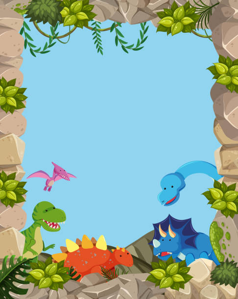 500 Dinosaur Border Illustrations Clip Art Istock