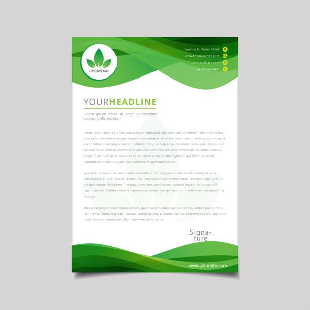 Nature Eco Banner Nature Eco Banner letterhead stock illustrations
